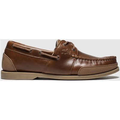 Lacoste Brown Nautic Trainers