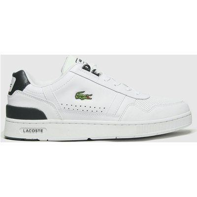 Lacoste White & Green T-clip Trainers