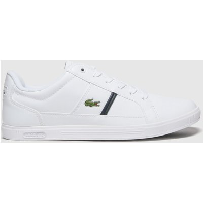Lacoste White & Green Europa Trainers