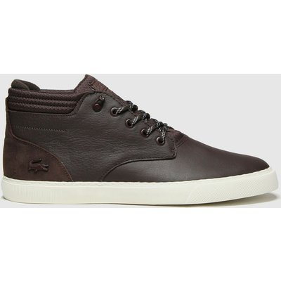 Lacoste Dark Brown Esparre Chukka Trainers