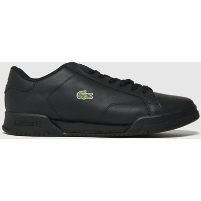 Lacoste Black Twin Serve Trainers