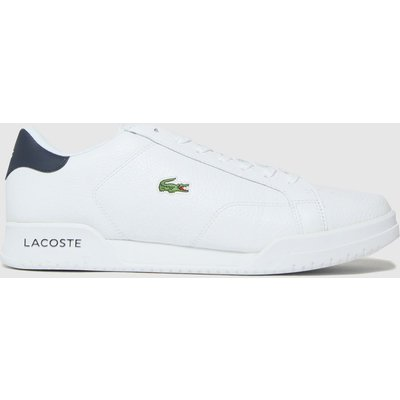 Lacoste White Twin Serve Trainers