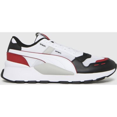 PUMA White & Black Rs 2.0 Trainers