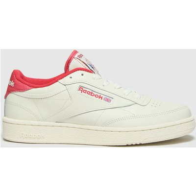 Reebok White & Red Club C 85 Trainers