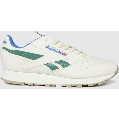 Reebok White & Green Cl Grow Trainers