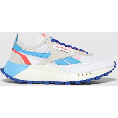 Reebok White & Blue Cl Legacy Trainers