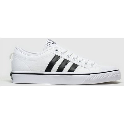 Adidas White & Black Nizza Trainers