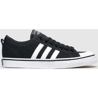 Adidas Black & White Nizza Trainers