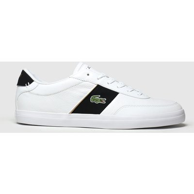 Lacoste White & Black Court-master Trainers