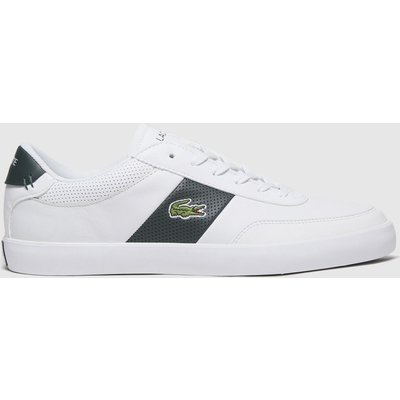 Lacoste White & Green Court-master Trainers