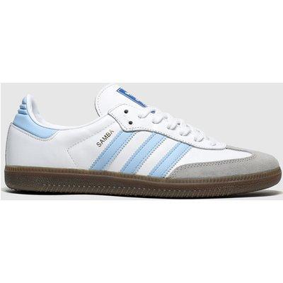 Adidas White & Pl Blue Adi Samba Og Trainers