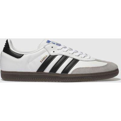 Adidas White & Grey Samba Og Trainers