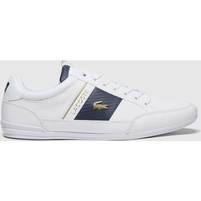 Lacoste White & Navy Chaymon Trainers