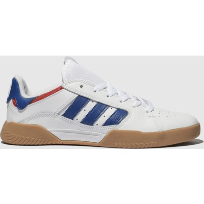 Adidas Skateboarding White & Navy Vrx Low Trainers