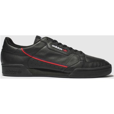 Adidas Black & Red Continental 80 Trainers