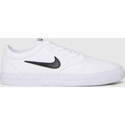 Nike SB White & Black Charge Slr Trainers