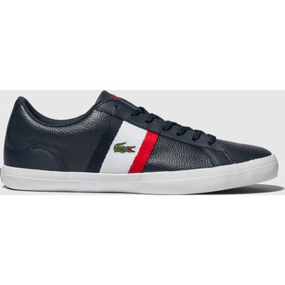 Lacoste Navy & Red Lerond Trainers