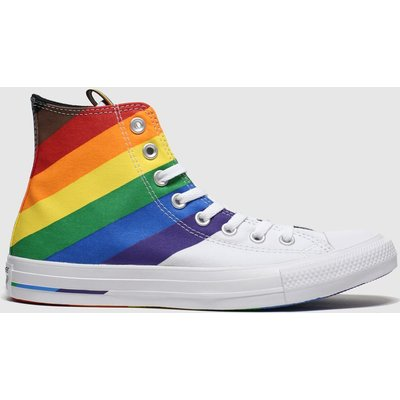 Converse White All Star Pride Hi Trainers