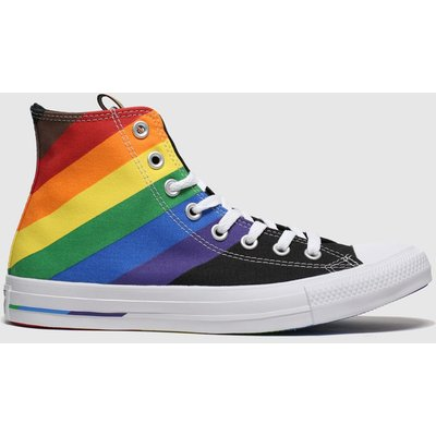 Converse Black All Star Pride Hi Trainers