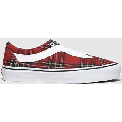 Vans White & Red Bold New Issue Trainers