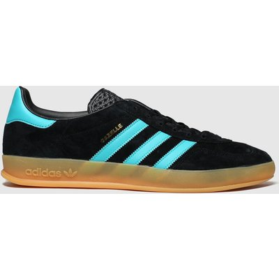 Adidas Black And Blue Gazelle Indoor Trainers