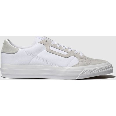Adidas White Continental Vulc Trainers