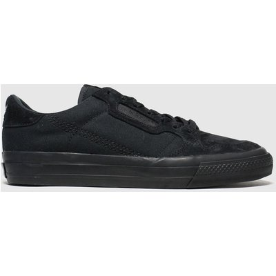 Adidas Black Continental Vulc Trainers
