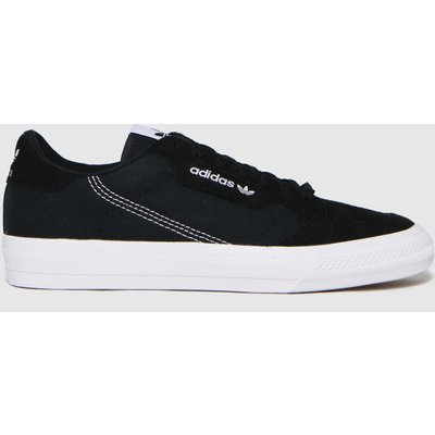 Adidas Black & White Continental Vulc Trainers