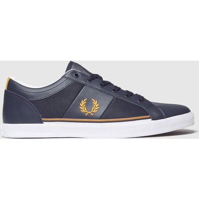 Fred Perry Navy & Gold Baseline Mesh Trainers