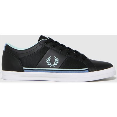 Fred Perry Black & White Baseline Mesh Trainers