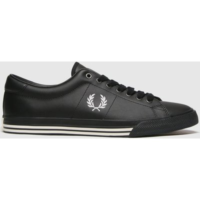 Fred Perry Black Underspin Leather Trainers