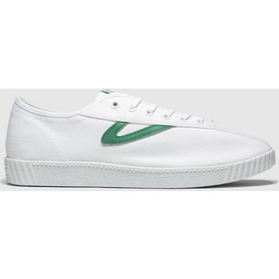 Tretorn White & Green Nylite Canvas Trainers