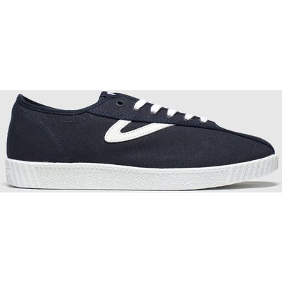 Tretorn Navy & White Nylite Canvas Trainers