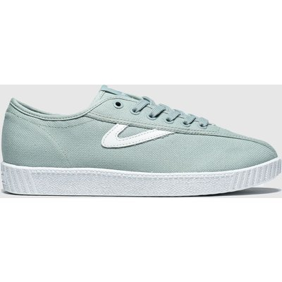Tretorn Light Green Nylite Canvas Trainers