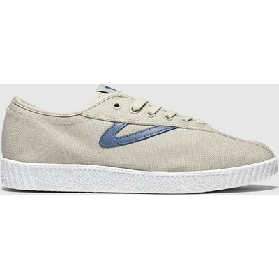 Tretorn Beige & Navy Nylite Canvas Trainers