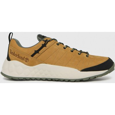 Timberland Tan Solar Wave Low Leather Trainers