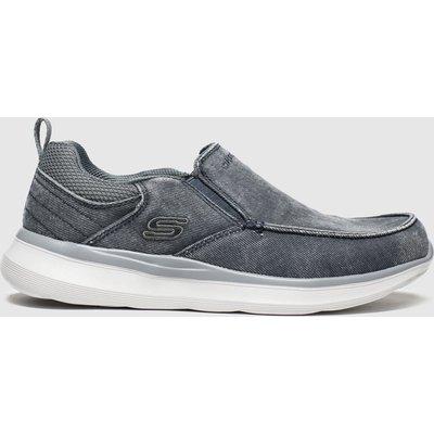 Skechers Grey Delson Slip Trainers