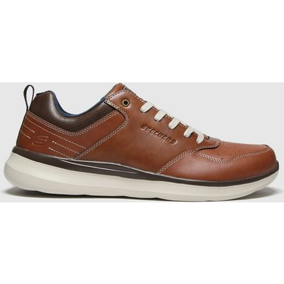 SKECHERS Brown Delson 2.0 Planton Trainers