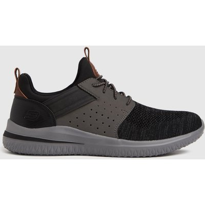 SKECHERS Black & Grey Delson 3.0 Trainers
