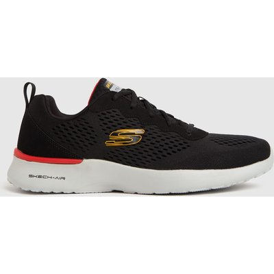 SKECHERS Black & White Air Dynamight Trainers