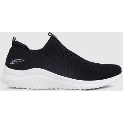 SKECHERS Black & White Ultra Flex 2.0 Trainers