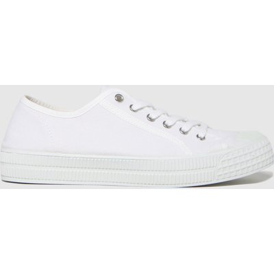 Schuh White Vinnie Recycled Canvas Trainers
