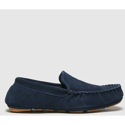 Schuh Navy Sawyer Suede Mocc Slippers