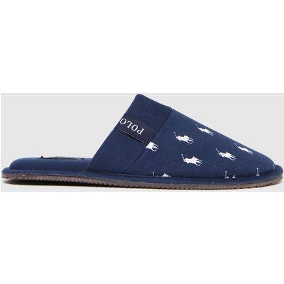 Polo Ralph Lauren Navy & White Kollin Slippers