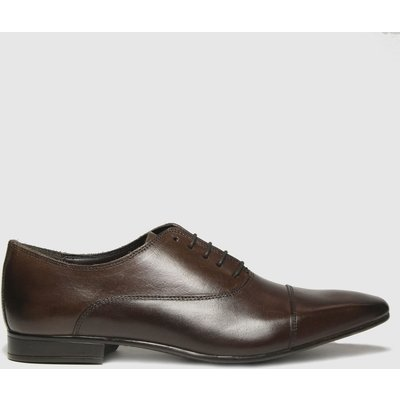 Schuh Brown Russel Toe Cap Leather Oxford Shoes