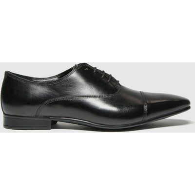 Schuh Black Russel Toe Cap Leather Oxford Shoes