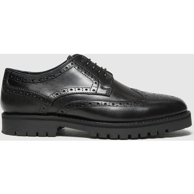 Schuh Black Quintin Leather Brogue Shoes