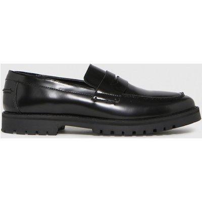Schuh Black Rogan Leather Hi Shine Loafer Shoes