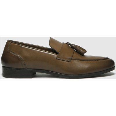 Schuh Tan Ross Tassel Shoes