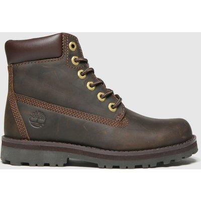 Timberland Dark Brown Courma 6in Boots Junior